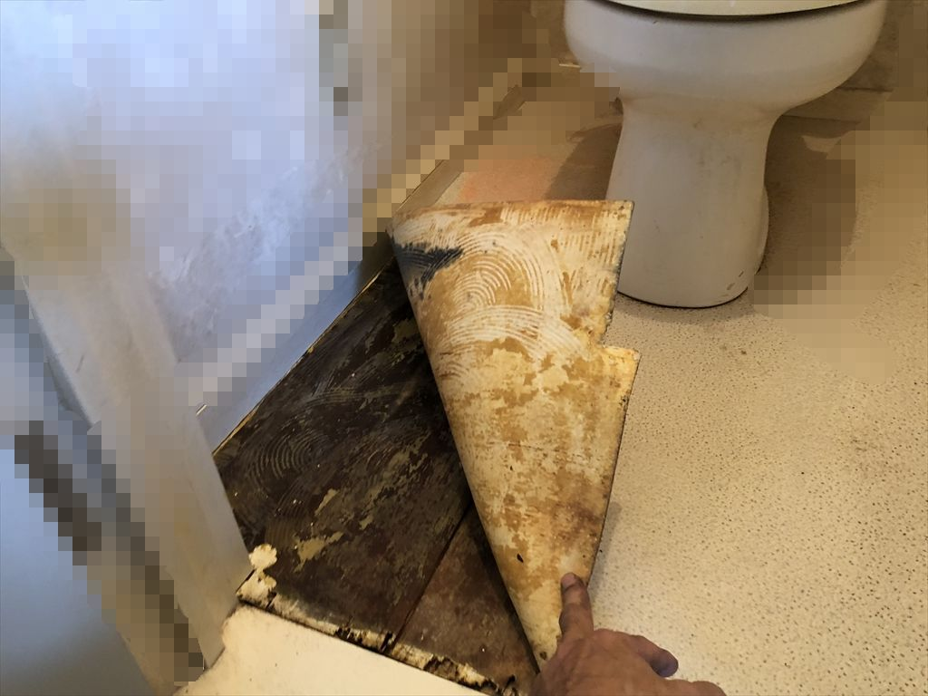 トイレの床抜け落ちそう